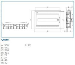 04103 IP40 INC 18W0 CENTRALINO INCASSO 18 MODULI Bocchiotti S.p.A